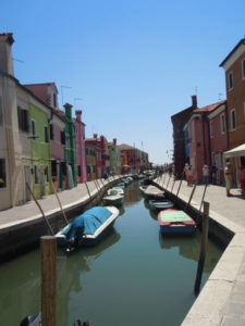 Painting in Burano